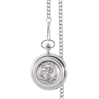 American Coin Treasures Silver Walking Liberty Half Dollar Pocket Watch