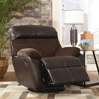 Signature Design by Ashley Berneen Coffee Swivel Rocker Recliner