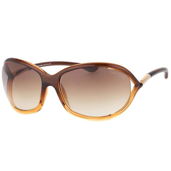 56f1bc621bb Shop Tom Ford Women s  Jennifer TF8 50F  Oval Sunglasses - Free ...
