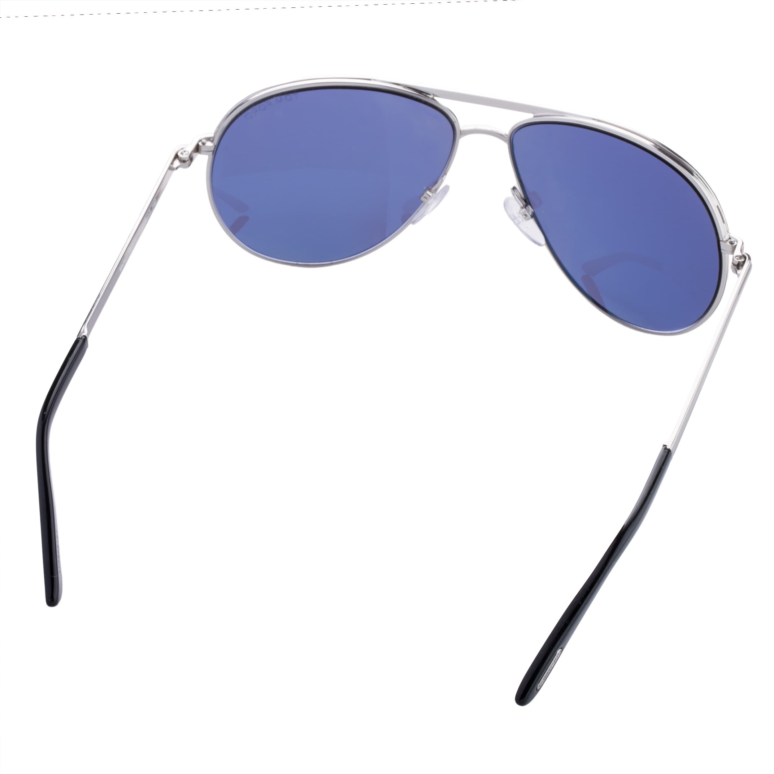 a74ccbb419f Shop Tom Ford Marko TF144 18V Unisex Silver Frame Blue Lens Aviator  Sunglasses - Free Shipping Today - Overstock - 9375422