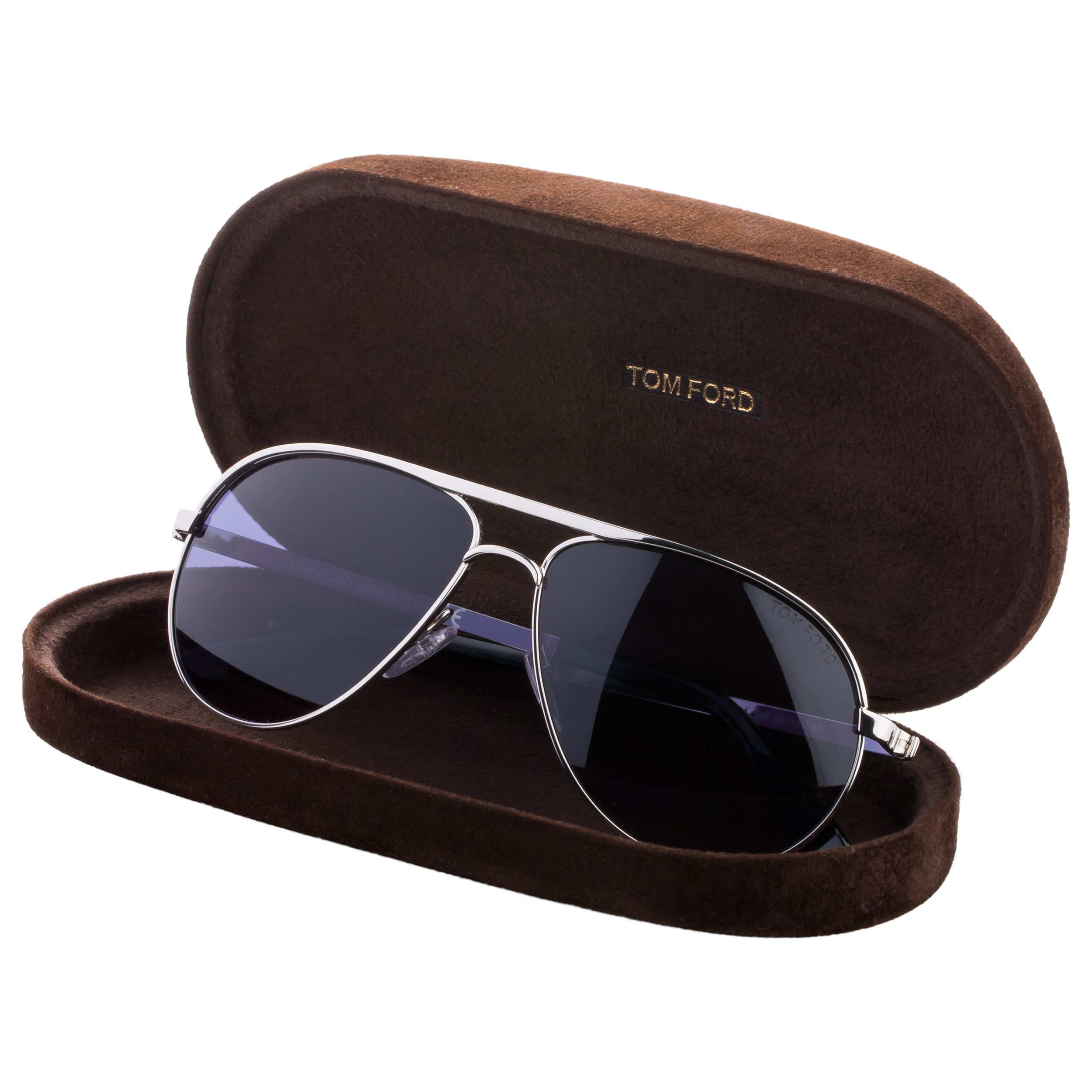0fdaae5d6c3c Shop Tom Ford Marko TF144 18V Unisex Silver Frame Blue Lens Aviator  Sunglasses - Free Shipping Today - Overstock - 9375422