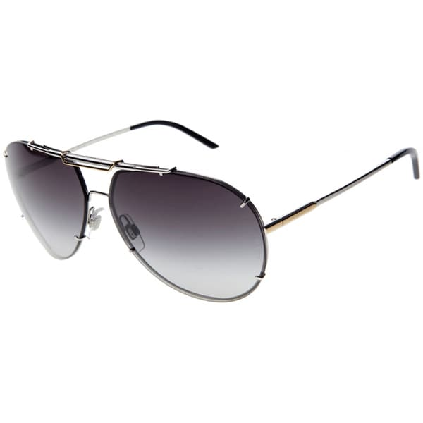 cef4f31ec5b Shop Dolce   Gabbana Men s DG 2075 05 8G Aviator Sunglasses - Free ...