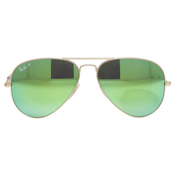 fa08329f3d57 Ray-Ban Aviator RB3025 Unisex Gold Frame Green Flash Polarized Lens  Sunglasses