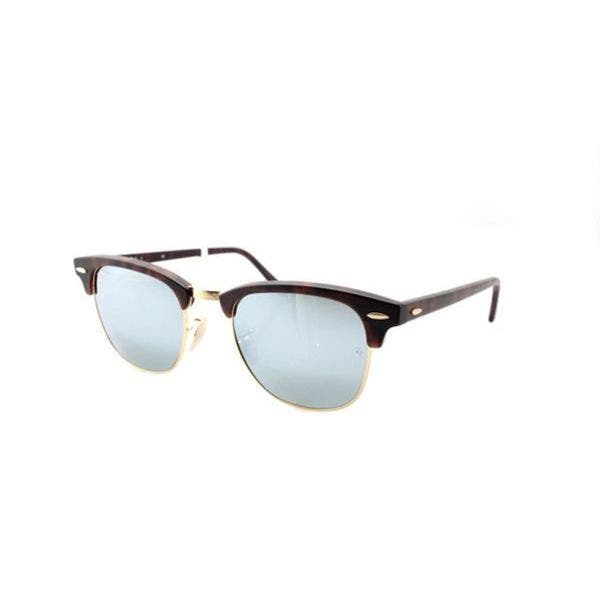 b2f9c88bc21 Ray-Ban Clubmaster RB3016 Unisex Tortoise Frame Silver Flash Lens Sunglasses