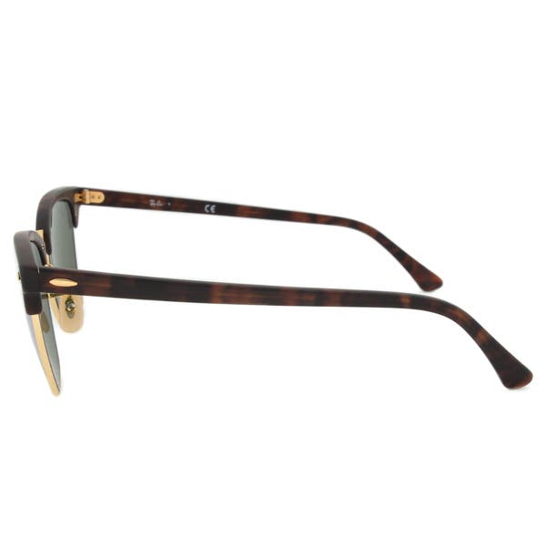 d923840759 ... Ray-Ban Clubmaster RB3016 Unisex Tortoise Frame Silver Flash Lens  Sunglasses ...
