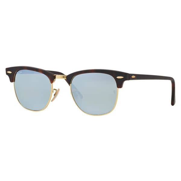 a70d79bc891 ... Ray-Ban Clubmaster RB3016 Unisex Tortoise Frame Silver Flash Lens  Sunglasses ...