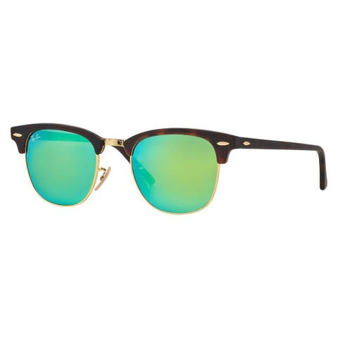 Ray-Ban Unisex 'Clubmaster RB3016 114519' Round Sunglasses
