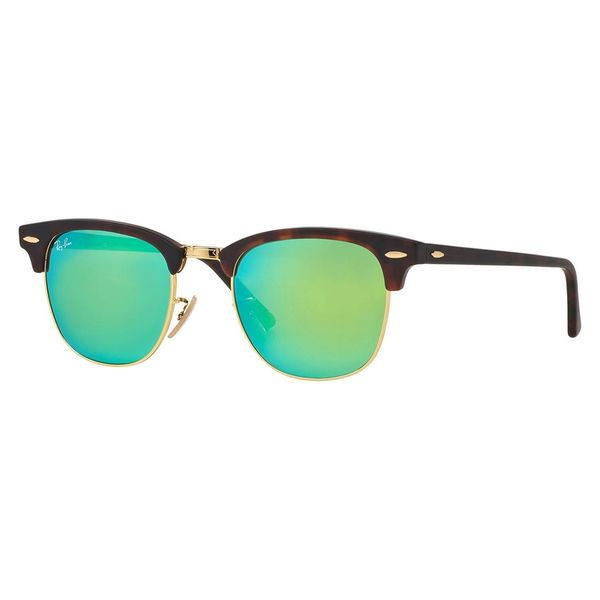 ray ban unisex round sunglasses  ray ban unisex 'clubmaster rb3016 114519' round sunglasses
