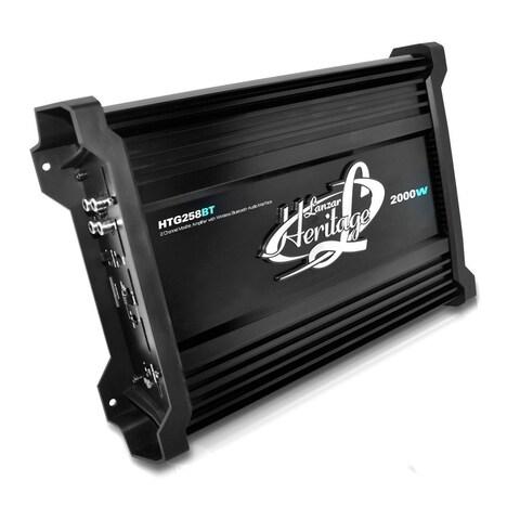 Lanzar 2000 Watt 2 Channel Mosfet Amplifier with Wireless Bluetooth Audio Interface