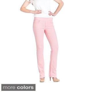 Bluberry Women's Solid Colour Denim Straight Cut Jeans