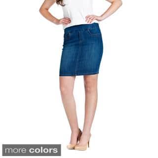 Bluberry Women's Pencil-cut Denim Skirt https://ak1.ostkcdn.com/images/products/9375540/P16566347.jpg?impolicy=medium