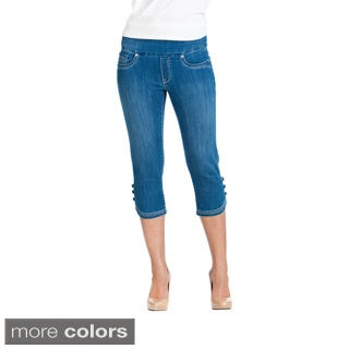 Bluberry Women's Denim Pedal Pusher Jeans