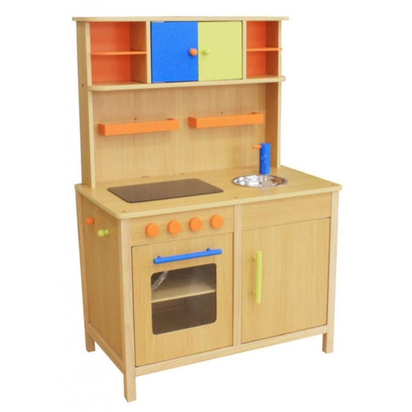 Kid's Lots of Fun Wooden Play Kitchen