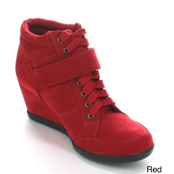 Forever Women's 'Peggy-51' Lace-up Wedge Sneakers. Opens flyout.
