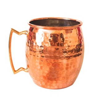 16-ounce Hammered Copper Mug