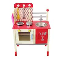 Merske Cute and Fun Green Wooden Play Kitchen