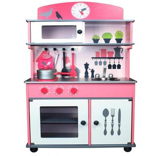 Merske My Very Own Pink Wooden Play Kitchen