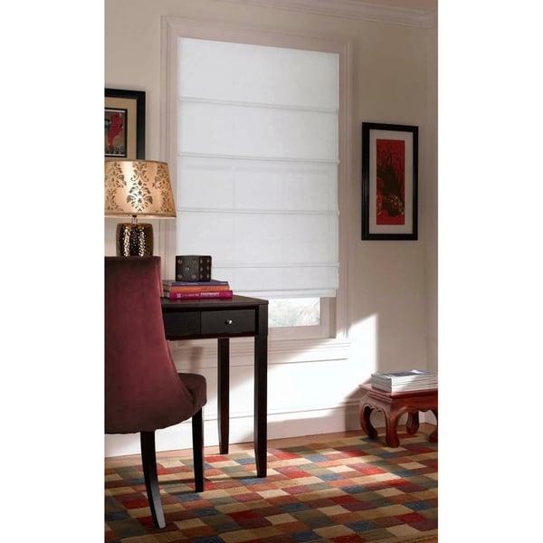 Shop First Rate Blinds Textured Woven Roman Window Shade