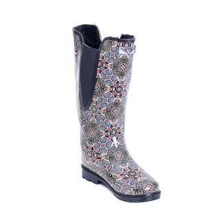 Women's Fresca Flower Print Mid-calf Rain Boots