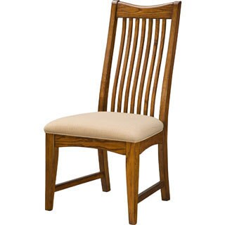 Pasadena Revival Solid Oak Mission Dining Chair (set of 2)