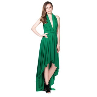 Women's High Low Maxi Dress Convertible Cocktail Gown Bridesmaid Dresses One Size Fits 0-12