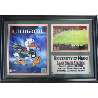 University of Miami Photograph Stat Horizontal Black Frame