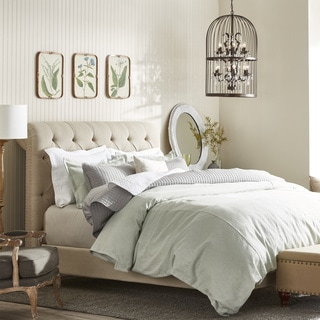 Oxford Beige Linen Platform Bed