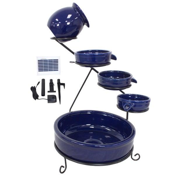 Sundance Blue Solar Terracotta Ceramic Water Fountain