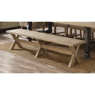 Emerald Home Rustic Beige Washed Dining Bench