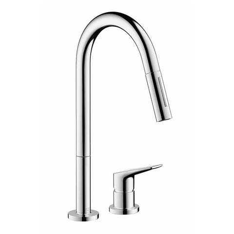 Axor Citterio Pull-Down Kitchen Faucet With High-Arc Spout
