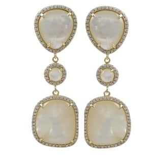 Luxiro Gold over Sterling Silver Gemstone Dangle Earrings|https://ak1.ostkcdn.com/images/products/9375897/P16566683.jpg?impolicy=medium
