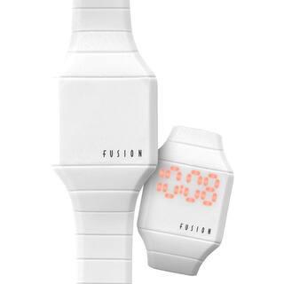 Dakota Fusion Mini 'White Hidden Touch' Digital LED Watch