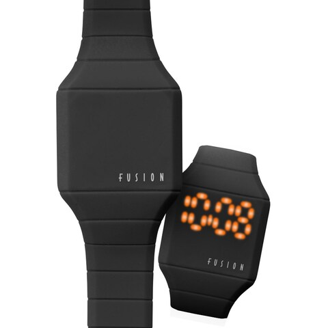 Dakota Fusion Mini 'Black Hidden Touch' Digital LED Watch