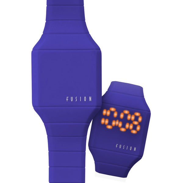 Dakota fusion mini 39 blue hidden touch 39 digital led watch for 1 2 3 fusion