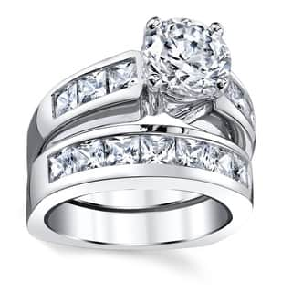 Oliveti Sterling Silver Cubic Zirconia Bridal Set Engagement Ring|https://ak1.ostkcdn.com/images/products/9375986/P16566752.jpg?impolicy=medium