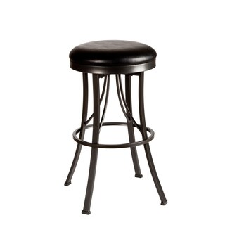 Ontario Pewter and Black Backless Stool