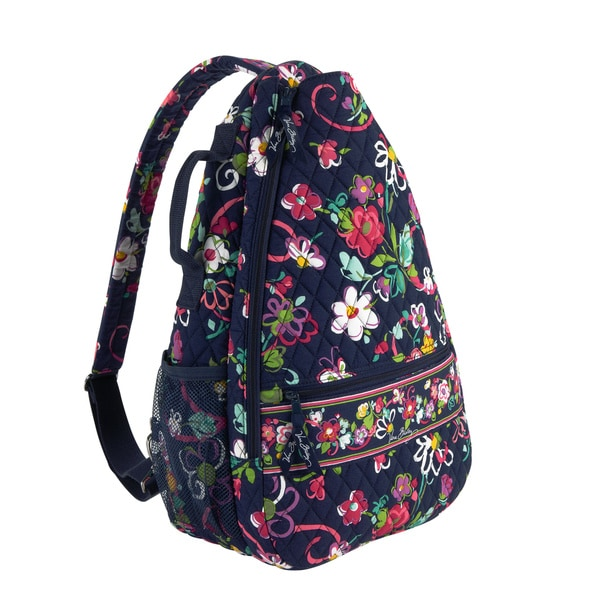 Shop Vera Bradley Ribbons Sling Tennis Backpack Shoulder Bag - Free ... f14d5c020516e