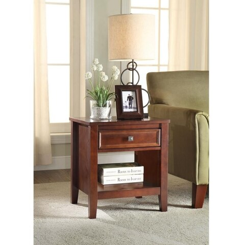 Linon Nomad 1 Drawer Side Table with Shelf