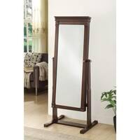 Linon Daphne Brown Frame Cheval Floor Mirror