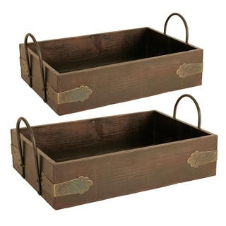 Wald Imports 12-inch Wood Serving Tray (Set of 2)