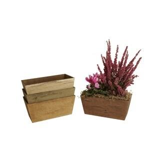 Wald Imports 4-inch Wood Planter Box (Set of 4)