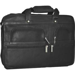 David King Leather 180 Expandable Laptop Briefcase