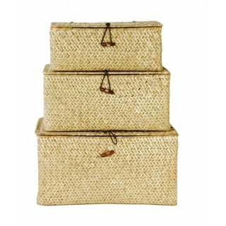 Wald Imports Seagrass Trunks (Set of 3)