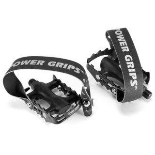 Power Grips Sport Bicycle Pedal Kit with Straps