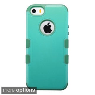 INSTEN Rugged Shockproof 3-piece PC Soft Silicone Hybrid Phone Case Cover for APPLE iPhone 5/ 5S/ SE