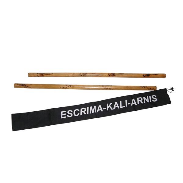 Escrima Kali Arnis Doce Pares Rattan Burned Martial Arts Stick Set