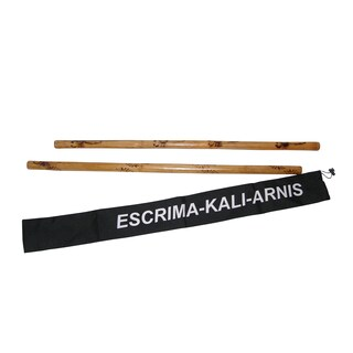 Escrima Kali Arnis Doce Pares Rattan Burned Martial Arts Stick Set