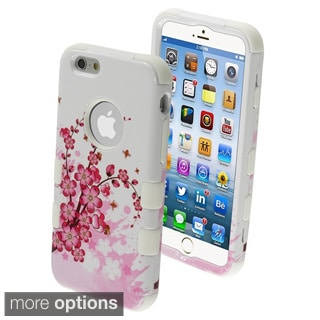 INSTEN Shockproof 3-piece PC Soft Silicone Hybrid Phone Case Cover for Apple iPhone 6 4.7-inch