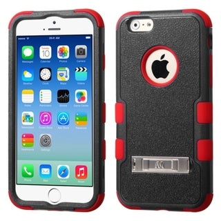 INSTEN Stand Rugged PC Soft Silicone Hard Plastic Hybrid Phone Case Cover for Apple iPhone 6 4.7-inch