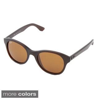 Ray-Ban Unisex RB4203 Round Plastic Gradient Sunglasses
